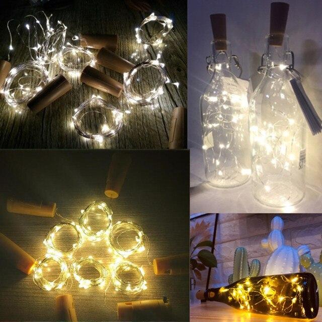 2 M LEVOU Luzes De Fadas String Guirlanda DIY para Garrafa de Vidro Artesanato de Natal de Ano Novo Decoração de Festa de Aniversário de Casamento Dos Namorados