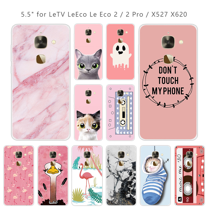 5.5 inch For Leeco <font><b>Le</b></font> <font><b>2</b></font> <font><b>X527</b></font> Phone Cases Soft Clear TPU Pink Cover For Letv <font><b>Le</b></font> S3 X626 / <font><b>Le</b></font> <font><b>2</b></font> Le2 Pro X620 Slim Silicone Capa image