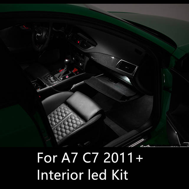 Shinman 7pcs Error Free Car Led Interior Light Kit Package For Audi A7 C7 Rs7 Accessories 2011 2015 Interior Light Freeshipping