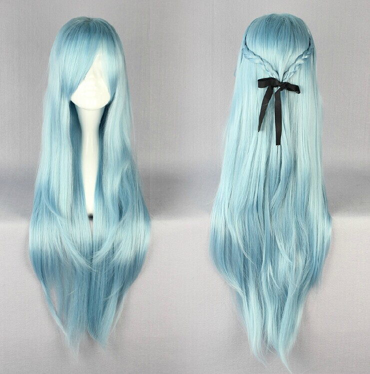 Game High quality Sword Art Online Cosplay Wig Yuuki Asuna Cosplay Wigs Long Yellow Wig Halloween Costumes Hair for Women