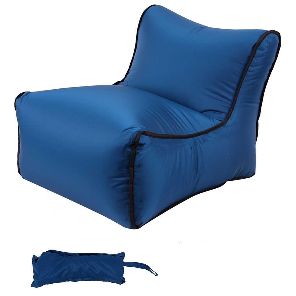 Dormir dobrável Portátil À Prova D' Água Saco de Praia Preguiçoso Sofá Inflável Cadeira de Bolso Viagem Rápida de Ar Ao Ar Livre de Acampamento