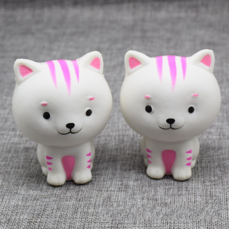 New 10CM Soft Squishy Scent Cat Pussy Squeeze Fun Kid Toys Stress Reliever Decor Squishy Charms Phone Straps Gift