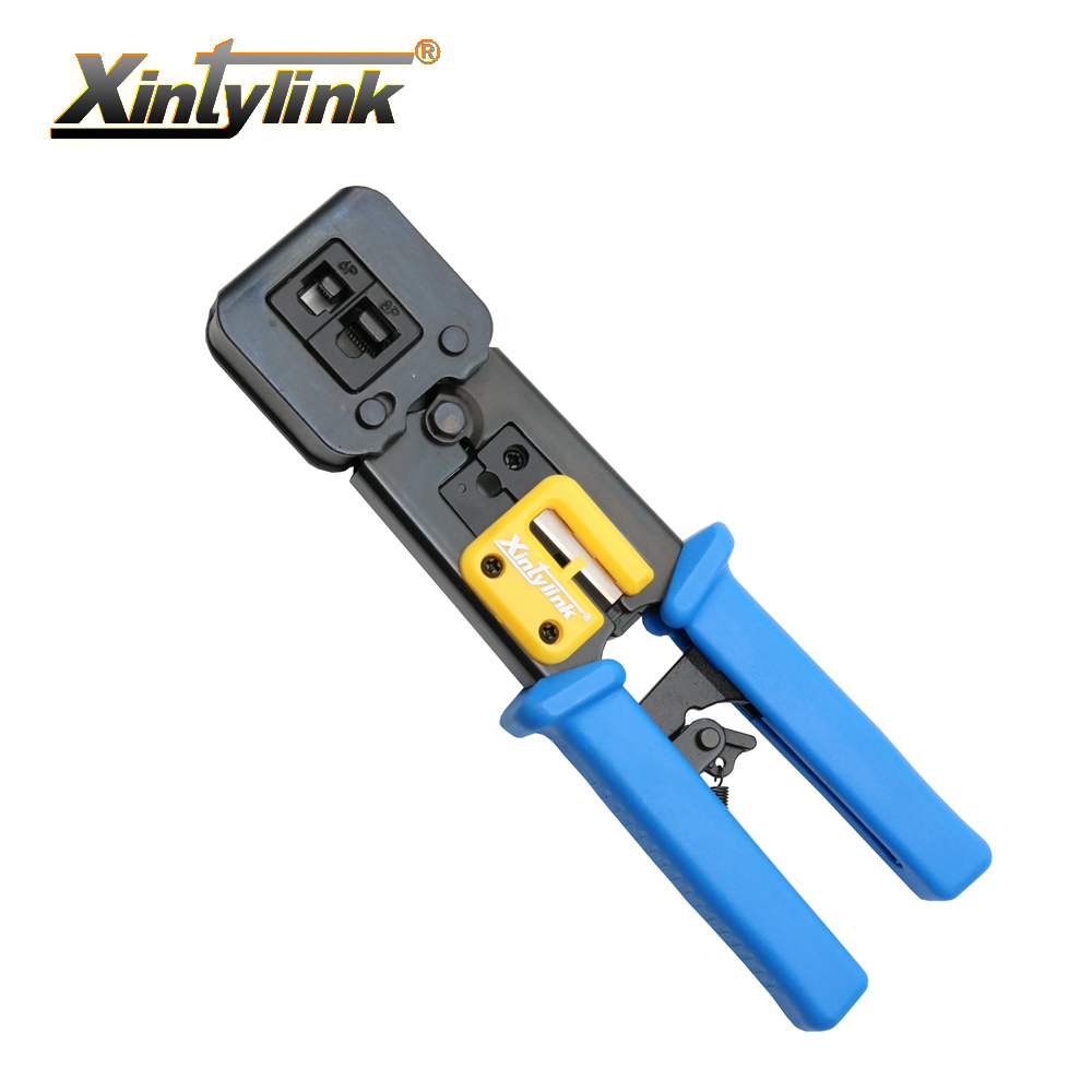 xintylink EZ rj45 crimper hand network tools pliers rj12 cat5 cat6 8p8c Cable Stripper pressing clamp tongs clip multifunction