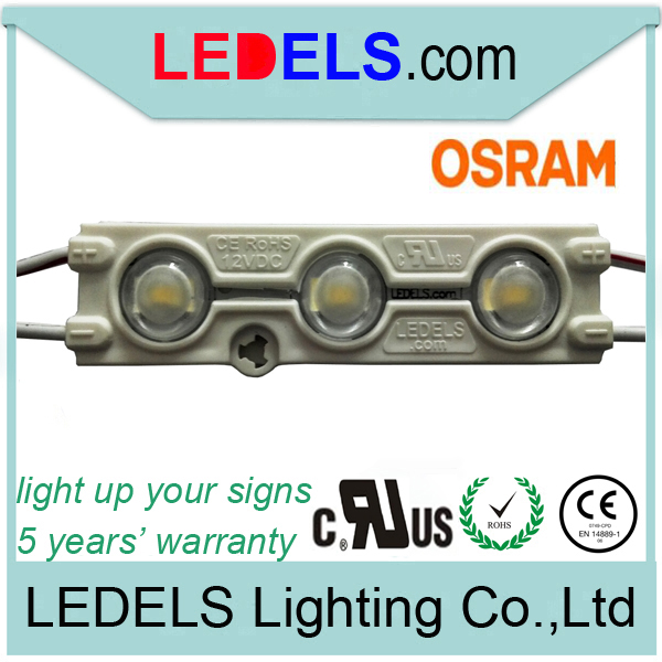 C/UL CE Rohs Osram 5630 LED MODULE LIGH 12V 1.2W Injection led signage for lightbox lighting modules 5 years warranty waterproof