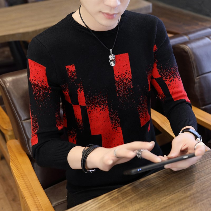 Zogaa Soft And Warm Sweater Men 2019 New Autumn Winter Hip Hop Pullover Men Long Sleeve Slim Fit Men Christmas Sweater Patchwork