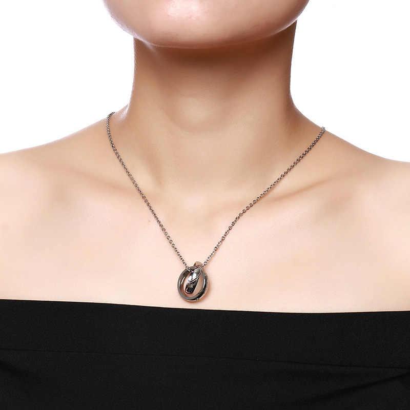 """Vnox, пара, ожерелье, CZ камни, сердце, головоломка, кулон, нержавеющая сталь, подарок для влюбленных, ювелирное изделие, 20 """"цепочка"""