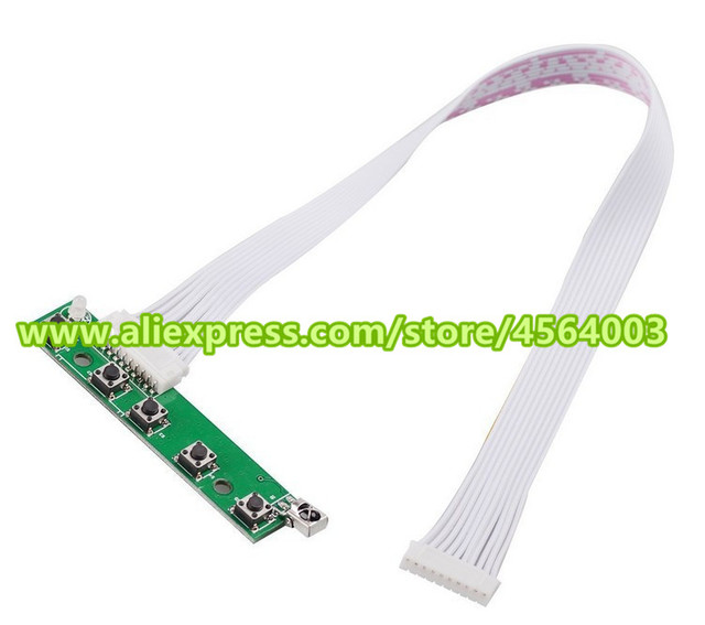 Matriz de pantalla de 9 pulgadas 1024*600 Mini monitor LCD TFT HDMI pequeña placa controladora TTL entrada para panel raspberry pi