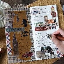 Британский стиль васи лента Ретро британский солдат клейкая лента DIY Скрапбукинг наклейка этикетка маскирующая лента