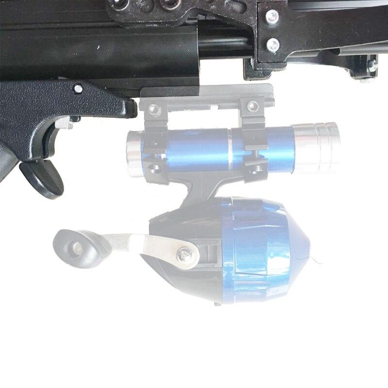 Lance-pierre Semi automatique chasse pêche arc puissant catapulte bobine multifonction acier balle munitions flèche tir continu 40BB - 6