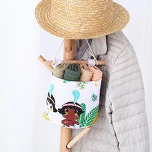 Милая этническая группа настенная сумка косметическая корзина