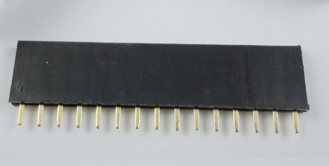 200 piezas 1x15 P 15 Pin 2,54 Pin conector hembra de una fila recta a través del agujero chapado en oro aislante altura 8,50mm Rohs