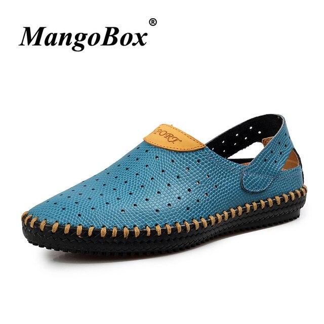 2018 Summer Mens Casual mocasines moda mocasines conducción holgazanes hueco diseñador hombres zapatos de goma inferior zapatos para caminar los hombres