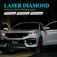CARBINS Laser Diamond Holographic White Car Vinyl Wraps Sticker