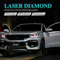 CARBINS Laser Diamond Holographic White Car Vinyl Wraps Sticker