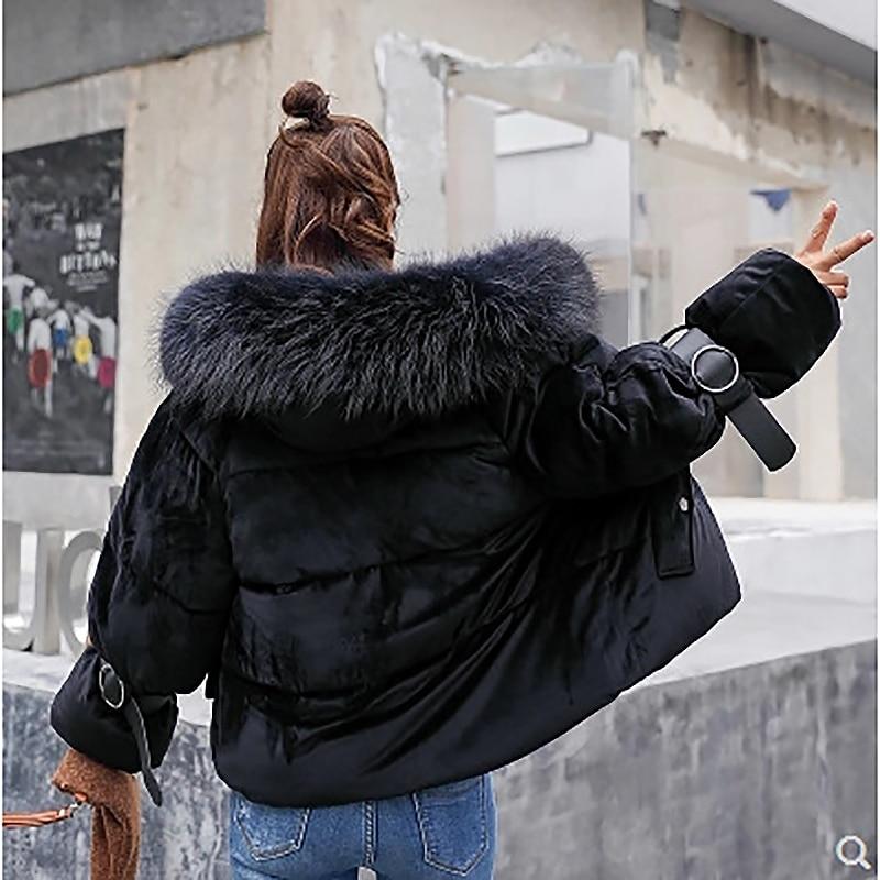 Les Doudoune Abrigos Invierno Beige Manteaux 2018 Chaud Mujer De Épais gray D'hiver Parkas Femmes Col pink Femme Fourrure black Pour Parka Veste Surdimensionnés P8THqZfn