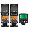 2 x iv yn560 flash speedlite para canon 6d 60d dslr camera + 1x yn560tx lcd controlador de flash sem fios