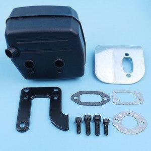 Image 3 - Muffler Exhaust Deflector Bracket Gasket Bolt Kit For Jonsered 625 II 630 Super 670 Champ Chainsaw Replacement Part