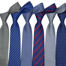 46 Color Sale 7CM Men Ties Polyester Stain Stripes Polka Dots Fashion Necktie Man Accessories Tie Prom Wedding Party Factory