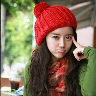 BomHCS Korean Candy Women s Fashion Winter Warm Crochet Beanie Knitted Hat Cap