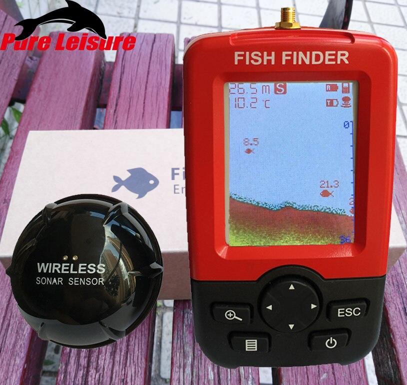 PureLeisure Sondeur Peche Smart Portable Fish Finder Wireless Sonar Sensor Echo Sounder Fishfinder for Underwater Sea FishingPureLeisure Sondeur Peche Smart Portable Fish Finder Wireless Sonar Sensor Echo Sounder Fishfinder for Underwater Sea Fishing