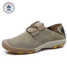 slip-on trekking sneakers Leather