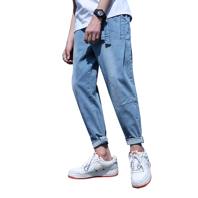 2018 new fashion wild Spring Nine Part Jeans Male Easy Leisure Time Will Code Haren Pants Price Control Free shipping Favourite
