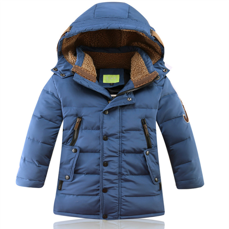 Boys Girls Winter Down Jacket Hooded Warm White Duck Down Velvet Long length Coat Causal Fashion Size for  6, 7,8,9 Years old russia winter boys girls down jacket boy girl warm thick duck down