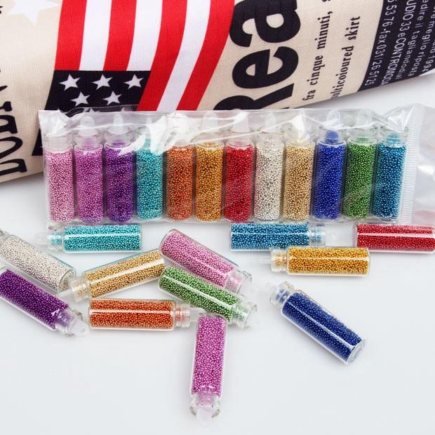 12 Colors 3D Caviar Nail Art Women Glitters Diy Decorations For Nails Tools ZP143