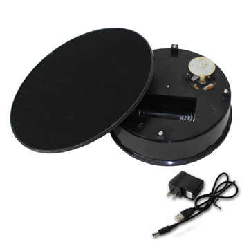 Black Velvet Top Electric Motorized Rotating Display Turntable for Model Jewelry Hobby Collectible Home