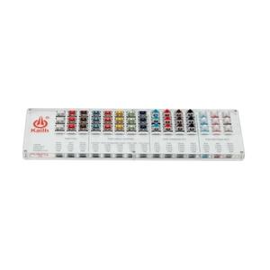 Image 4 - Kailh 45 מפתחות נמוך פרופיל choc מכאני מקלדת מתגי Tester שקוף ברור Keycaps ערכת עבור סמפלר כובעי בדיקות כלי