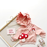 2019 autumn new pre sale children's tops pink color cute hoodie long sleeved Sweatshirt kids coat baby girls top