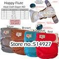 Feliz flauta pañal de tela para adultos, pantalones de incontinencia, trabajar con almohadilla desechable, 3 tamaños disponibles, envío gratis