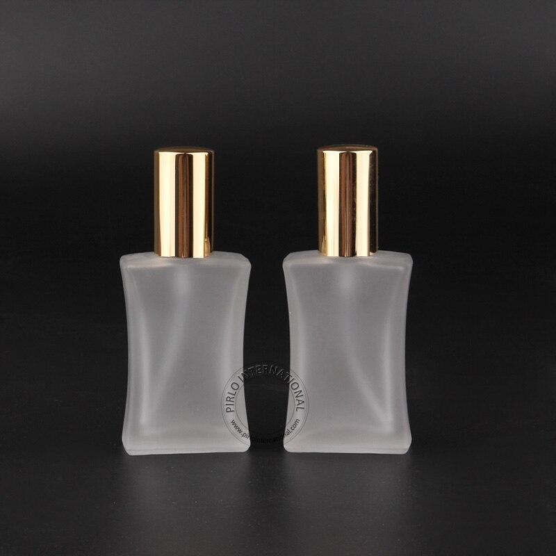 3 unids lote nuevo vacío 40 ml botella de perfume de cristal oro olla  aerosol mujeres cosmética envases atomizador recargable 40g olla 5ae93030c1