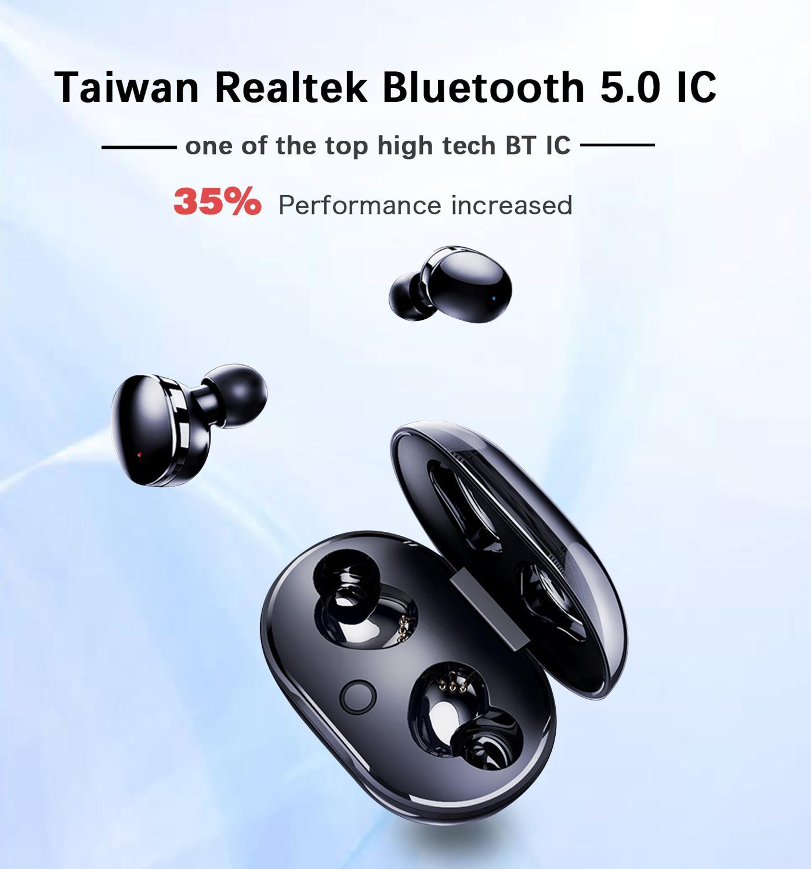 Image 2 - Dikdoc Wireless Earbud Bluetooth Earphone TWS880 IPX7 Waterproof Small Easy To Wear Noise denoise BT 5.0 For Galaxy Sport Buds-in Bluetooth Earphones & Headphones from Consumer Electronics