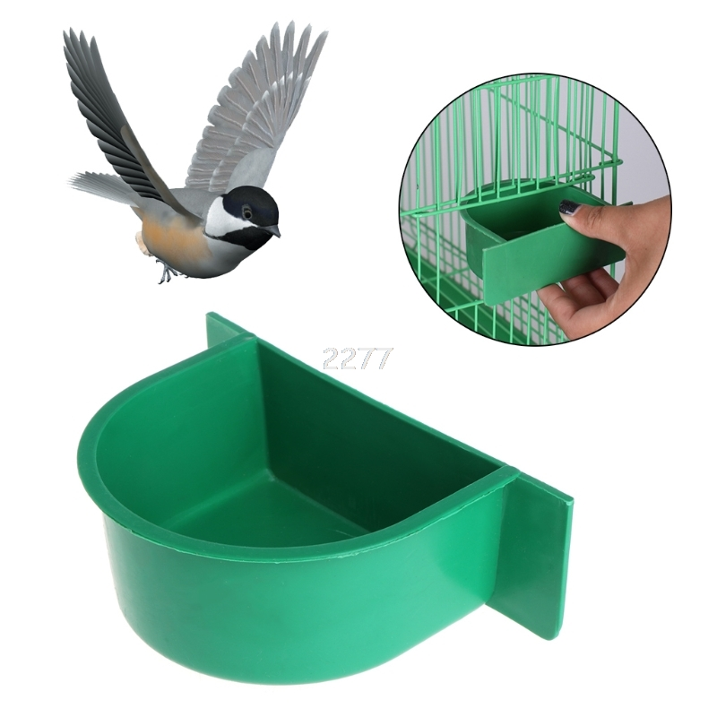 Bird Feeder Water Food Feeding Parrot Cage Plastic Bowl Pigeon Drinking Device  MAY03 dropshipping plastic