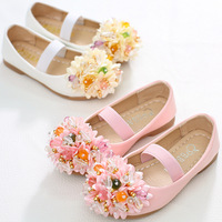 New 2016 Enfants fashion sweety girls shoes,Lovely flower bow children sandals,High quality princess kids shoes,dancing shoes