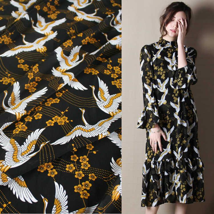 145 cm stampato tessuto a metro micro-prospettiva tessuto chiffon materiale drappo sciarpa camicia di vestito di poliestere tessuto cinese tessuti