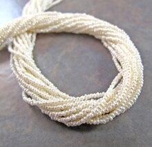 Małe białe słodkowodne nasion perły kremowy 1.5 2mm naturalne perły koraliki biżuteria dostaw