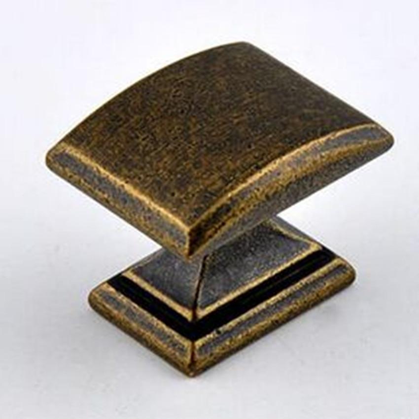 Retro rustico furniture knobs bronze drawer cabinet knob antique iron dresser cupboard door pull black vintage brass handle ABM цена и фото