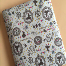 Sewing Cotton Linen Fabric Printed Patchwork DIY Quilting Material Hanmade Crafts Canvas For Textile