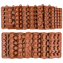24 Shapes New Silicone Chocolate Mold Baking Tools Silicone Cake Mold Jelly And Candy Mold 3D Numbers DIY Cake Decorations Tools cheap CN(Origin) Eco-Friendly Baking Pastry Tools CE EU LFGB Moulds DIY cake mold -40F to +446F(-40c to +230c) So Fast!!!