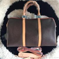 2019 woxk Новая мода саквояж женские сумки размер 45/50/55 keepall сумка натуральная кожа с высокое качество, Бесплатная доставка
