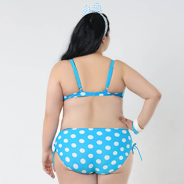 2XL 6XL Plus Size Bikini Swimsuits For Large Women Bikini Dot Sexy Push Up  Swimwear Brazilian 09c5f72291ba