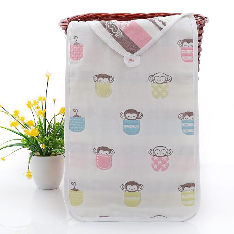 Купить с кэшбэком Baby Towel 25*50 cm 6 Layers Cotton Children's Towels Soft Cartoon Towel Baby Bath Towel Newborn Baby Face Shower Handkerchef