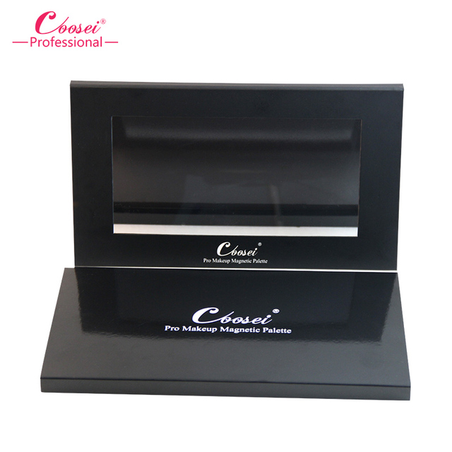 Empty Magnetic Eyeshadow Palette,Coosei Brand With LOGO Makeup Cosmetic DIY Palette Matt black