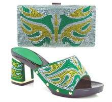 Neue Schuhe für frau!! Afrikanische Mode Schuhe und Passende Taschen set, italien design Schuhe und tasche mit Schönen steinen. ME3307