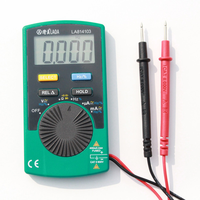 New Design Mini Digital Multimeter Multifunction Portable Automatic Measurement Instrument Contain Battery