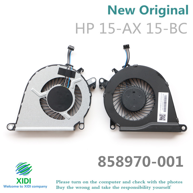 US $2 9 |NEW CPU FAN FOR HP OMEN 15 AX 15 AX020 15 AX039 15 AX252 15 AX253  15 AX030TX TPN Q173 CPU COOLING FAN 858970 001-in Fans & Cooling from