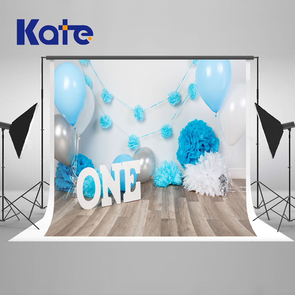 KATE Photo Background Wedding Backdrop Newborn Birthday Background Wood Photo Backdrop Cake and Ballon Blue Backdrop for Studio kate photo background newborn birthday photography background lollipop and cake table backdrop for children photo shoot