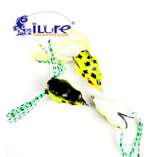 5 pcs/lot New style soft toad frogs Bass Fishing Lure Soft Plastic hollow fishing lure crankbait hooks wholesale free shopping